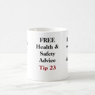 Caneca De Café Conselho LIVRE de saúde e de segurança - ponta 23