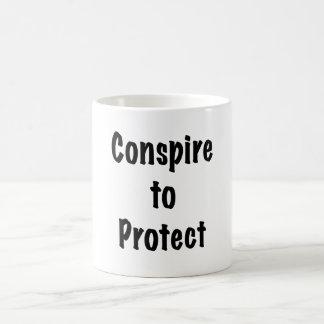 Caneca De Café Conspire proteger