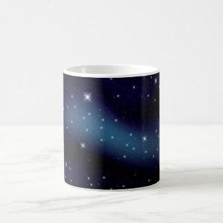 Caneca De Café Constelação estrelado escura