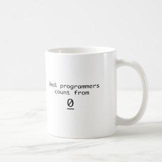 Caneca De Café Contagem real dos programadores de 0