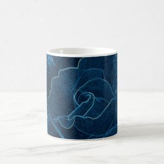 Caneca De Café contorno do rosa do azul