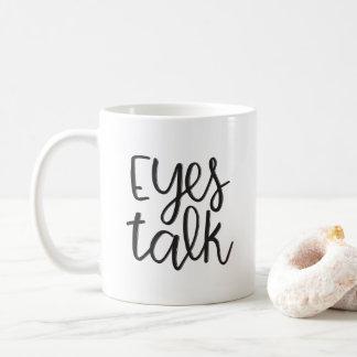 Caneca De Café Conversa dos olhos