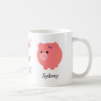 Caneca De Café Copo bonito personalizado do porco