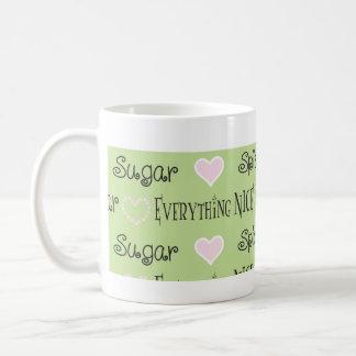 Caneca De Café Copo clássico do Sippy da mamã do açúcar & da