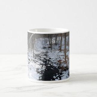 Caneca De Café copo com floresta do inverno