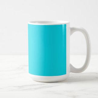 Caneca De Café Copo com fundo do azul do Aqua