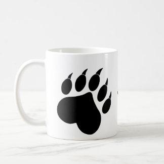 Caneca De Café Copo da pata do coração do urso