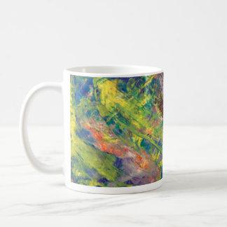 Caneca De Café copo de café, acrílico, arte abstracta