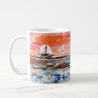 Caneca De Café Copo de café, acrílico, oceano, arte abstracta