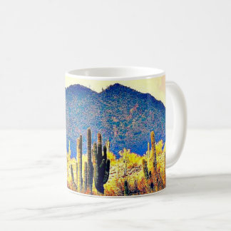 Caneca De Café Copo de café agradável dos Saguaros/montanhas do