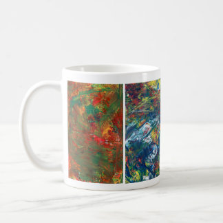 Caneca De Café Copo de café, arte abstracta acrílica