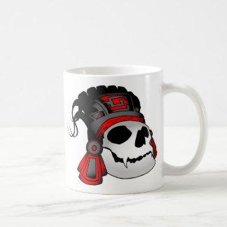 Caneca De Café Copo de café asteca do crânio do guerreiro
