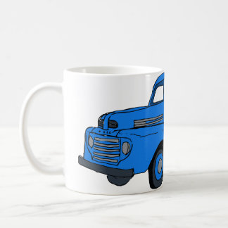 Caneca De Café Copo de café azul do caminhão do vintage/caneca