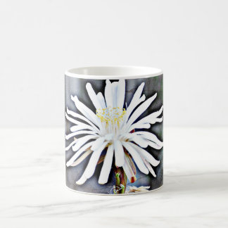 Caneca De Café Copo de café clássico da flor branca do cacto