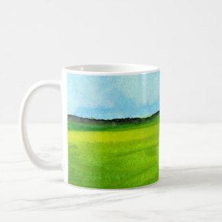 Caneca De Café Copo de café com arte, paisagem abstrata
