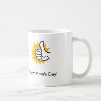 Caneca De Café Copo de café com polegar acima que diz o dia feliz