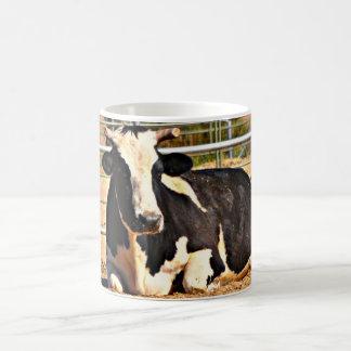 Caneca De Café Copo de café curto da vaca do chifre