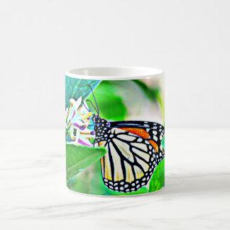 Caneca De Café Copo de café da borboleta de monarca/caneca