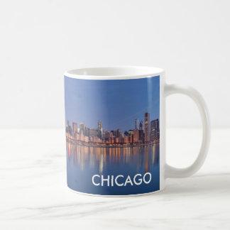 Caneca De Café Copo de café da skyline de Chicago