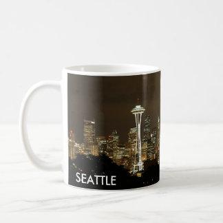 Caneca De Café Copo de café da skyline de Seattle