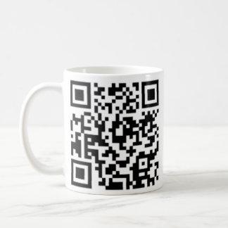Caneca De Café Copo de café do design do código de QR melhor no