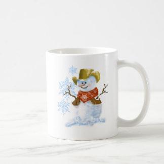 Caneca De Café Copo de café do Natal do boneco de neve do