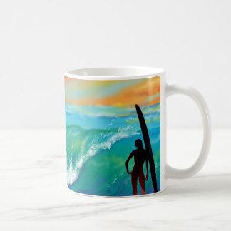 Caneca De Café Copo de café do paraíso do surfista