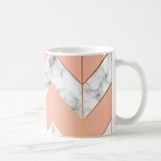 Caneca De Café Copo de café elegante da textura de mármore