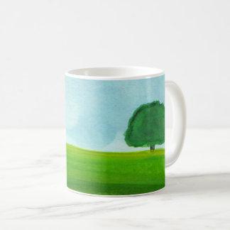 Caneca De Café Copo de café, paisagem da aguarela