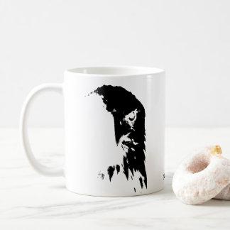 Caneca De Café Copo de café preto & branco da águia americana