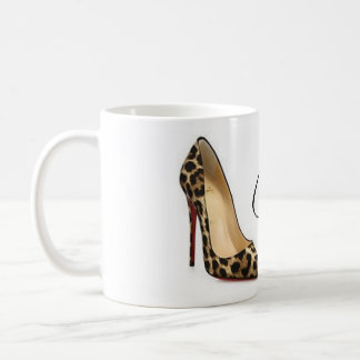 Caneca De Café Copo de chá das citações dos calçados do leopardo