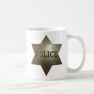 Caneca De Café Copo do crachá da polícia do vintage