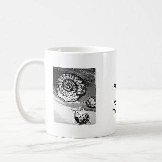 Caneca De Café Copo do fóssil da amonite
