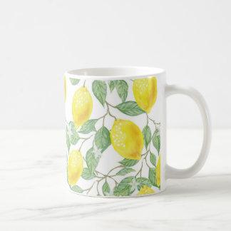 Caneca De Café Copo do limão e de café das videiras do verde