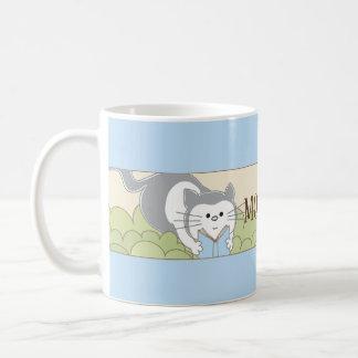 """Caneca De Café Copo do Sippy da mamã clássica do gato azul """" de"""