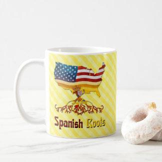 Caneca De Café Copo espanhol americano das raizes