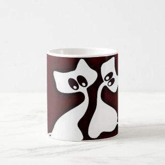 Caneca De Café Copo irrisório romântico bonito dos gatos