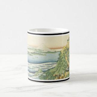 Caneca De Café Copo japonês da arte de Monte Fuji