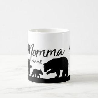 Caneca De Café Copo personalizado do urso de Momma
