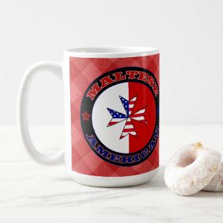 Caneca De Café Copo transversal americano maltês da bandeira