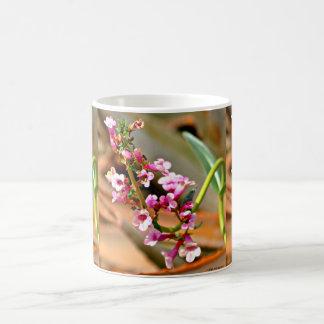 Caneca De Café Copos de café cor-de-rosa da flor de trombeta