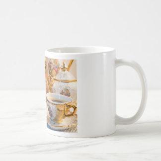 Caneca De Café Copos de café retros da porcelana com café quente