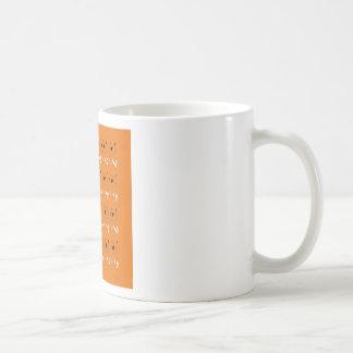 Caneca De Café Cor da argila dos elementos do design