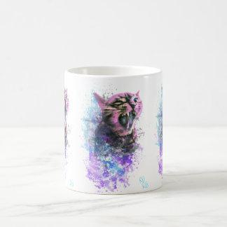 Caneca De Café Cor de água do gato rujir