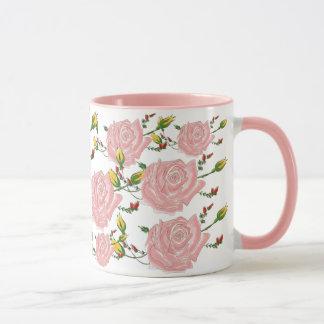 Caneca de café cor-de-rosa