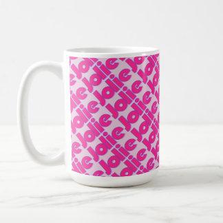 Caneca de café cor-de-rosa do estilo de Jolie