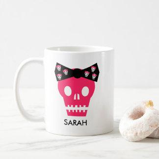 Caneca de café cor-de-rosa personalizada do punk