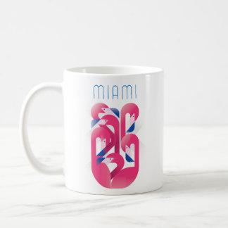 Caneca De Café Cor do flamingo de Miami