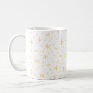 Caneca De Café Cor do teste padrão de estrela, a branca e a não