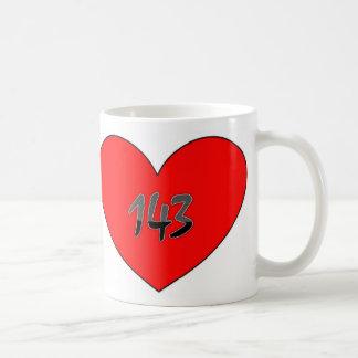 Caneca De Café Coração 143 eu te amo